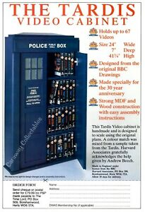 THE TARDIS video cabinet Promo Single Sheet Flyer  Advertisment Doctor Who