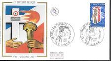 FR232  France 1976  LE SOUVENIR FRANCAIS OLYMPIC TORCH SILK FDC $4.00