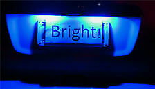 Subaru Impreza RS WRX STI RX Blue LED License Number Plate Lights GE GV GH GR