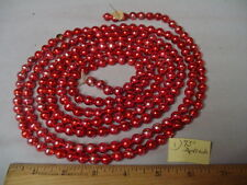 """Christmas Garland Mercury Red To Pink 93"""" Long 3/8"""" Beads #1 Vintage"""