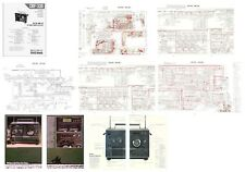 """SONY CRF-320 SERVICE MANUAL PHOTOCOPY with COLOR 11 x 17"""" PAGES + 4 COLOR PHOTOS"""