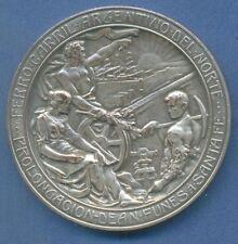 *RAILWAY Railroad HUGE Art Nouveau Nude male 1908 Argentina medal by GOTTUZZO