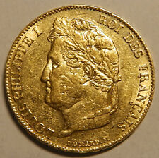 France Louis Philippe I 20 Francs Gold 1839 A  mint PARIS  Very Nice  Rare!!