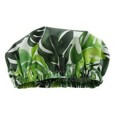 Eco friendly Shower Cap made in Australia machine washable Monstera Leaves