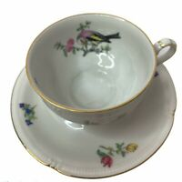 Vintage Bavaria Winterling Tea Cup and Saucer Bird