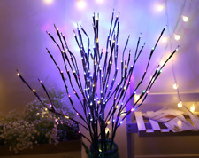 20/100LED Christmas Willow Branch Lamp Lights Floral Light Party Tabletop Decor