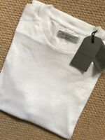 "ALL SAINTS CHALK WHITE ""BRYAN"" S/S DISTRESSED CREW T-SHIRT TOP - M & L  NEW TAGS"