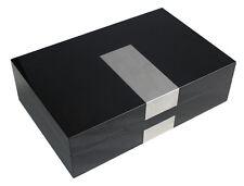 8 BLACK PIANO GLOSS LACQUER OVERSIZED WATCH DISPLAY JEWELRY CASE XL STORAGE BOX