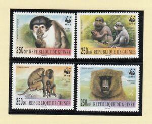 (90622) Guinea MNH WWF Mangabey & Baboon 2000