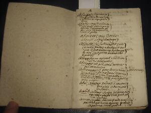 1750 Manoscritto relativo all'Agricoltura: Indice Agrario. Francese ed italiano.