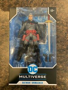 McFarlane DC Multiverse Batman Unmasked Flashpoint Action Figure IN HAND Rare!