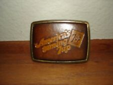 Belt Buckle Made In The Usa Americas Turning 7Up Beverage Advertising Leather