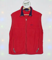 PATAGONIA Synchilla Gilet Red Fleece  Bodywarmer Outwear Sleeveless Vest Size L