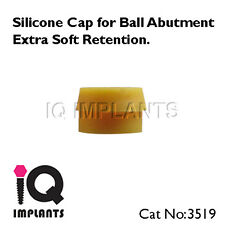 Set of 10 Silicone Caps for Ball Abutments Extra Soft Retention Dental Implants