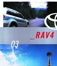 2003 03 Toyota Rav 4  Rav4  oiginal sales brochure MINT