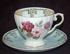 BEAUTIFUL ROYAL GRAFTON ENGLAND FINE BONE CHINA FOOTED TEA CUP & SAUCER