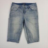 Tommy Bahama Denim Clam Digger Faded Bermuda Hawaiian Camp Outdoor Shorts Size 8