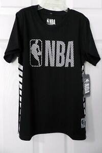 Boys Youth Official Boys Size 8 NBA Basketball Athletic Shirt NEW Black/White