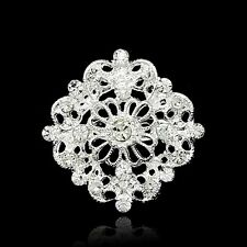 Wedding Silver Colour Brooches Crystal Rhinestones Diamante Gold Pearl