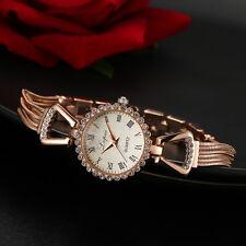 LVPAI Ladies Watch Roman Numeral Stainless Steel Slim Band Luxury Quartz Gift