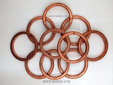 Copper Exhaust Gasket Sealing Ring Down Pipes Headers To Engine Motorcycles 47mm