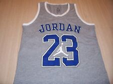 AIR JORDAN SLEEVELESS GRAY TANK TOP BOYS MEDIUM 10-12 EXCELLENT CONDITION