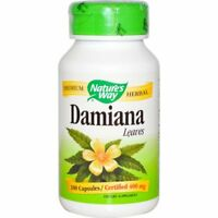 Damiana, Leaves, 400 mg, 100 Capsules - Nature's Way
