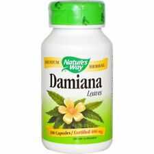 Damiana, Leaves, 400 mg, 100 Capsules - Nature's Way