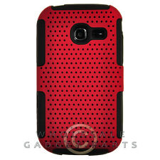 Samsung R480 Freeform 5 Hybrid Mesh Case Red/Black Cover Shell Protector Guard