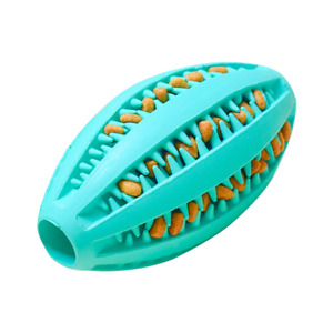Natural Safe Rubber Dog Ball Toys Aggressive Chewers Teething Cleaning Dispenser