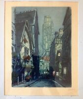 MARCEL JULIEN BARON (French Modernist 1872-1956) Pencil Signed Color Etching No4