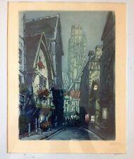 MARCEL JULIEN BARON (French Modernist 1872-1956) Pencil Signed Color Etching No4