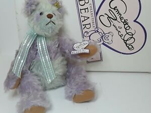"""ANNETTE FUNICELLO 15"""" LILA MOHAIR BEAR RARE RETIRED LIMITED ED W BOX CERTIFICATE"""