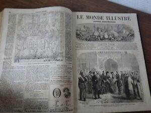 LE MONDE ILLUSTRE Année 1860 (Janvier à Juin) (Nr 795 à 820)
