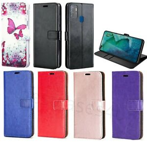 For Oppo A53 Phone Case Leather Flip Case Shockproof Slim Gel Wallet Book Cover