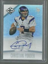 CHRISTIAN PONDER MONIKERS AUTO SILVER #01/20 EBAY 1/1 2012 LIMITED AUTOGRAPH