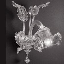 Applique classica in vetro di murano 1 luce cristallo