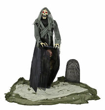 HALLOWEEN LIFE SIZE ANIMATED GRAVEYARD REAPER  PROP DECORATION HAUNTED HOUSE