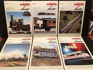 1999 THE MARKLIN CLUB MAGAZINE INSIDER 6 ENGLISH ISSUES MODEL TRAINS RAILROAD