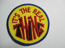 It's The Real Thing Patch, Vintage, NOS, Original, 60's/70's  3 x 3 INCHES