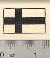 Flag of Finland Rubber Stamp, Siniristilippu, Blue Nordic Cross D25009 WM