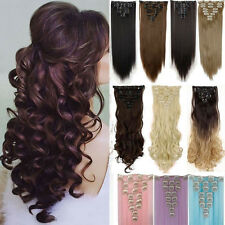 Extra Thick Clip in Full Head Clip in Hair Extensions human Made hairpiece hn0