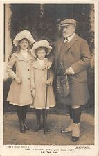POSTCARD  ROYALTY    KING  EDWARD  VII  with  The  Duff  Children
