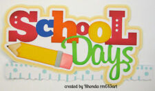 SCHOOL DAYS title paper piecing Premade Scrapbook Pages album cards by Rhonda