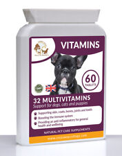 Multi Vitamins & Minerals (32 Natural Ingredients!) for Dogs | 60 Chewy Tablets