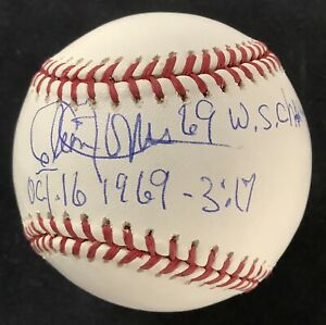 Cleon Jones Signed Baseball Selig Mets Autograph 69 WS Champs Inscription JSA 2