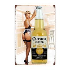 Metal Tin Sign corona  beer Bar Pub Home Vintage Retro Poster Cafe ART