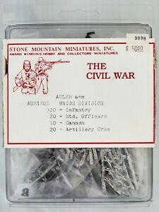 The Civil War Union Division Adler Miniatures 1:285 Scale 6mm 370 miniatures