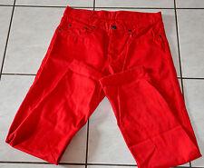 jeans pantalon coton rouge homme DANYBERD  taille W31(40/42) NEUF SANS ÉTIQUETTE