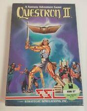 Atari Questron II 1040 ST Vintage Computer Video Game Disks Box Manual